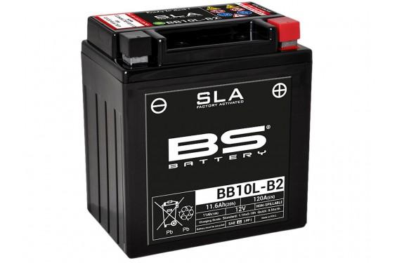 Batterie Moto BS BB10L-B2 SLA  ( YB10L-B2 / CB10L-B2 )