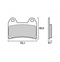 Plaquette de Frein Moto Avant CL Brakes 2539A3+