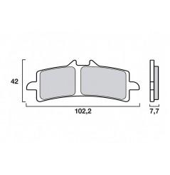 Plaquette de Frein Moto Avant CL Brakes 1185A3+