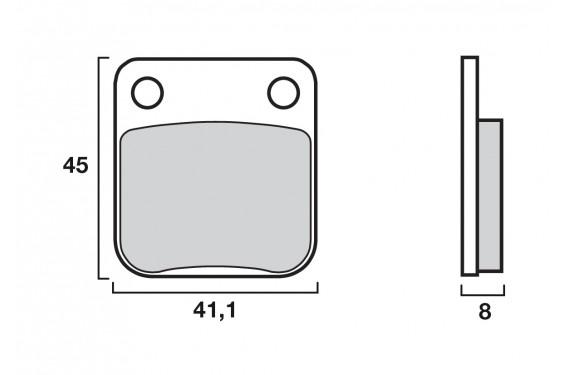 plaquette de frein moto avant cl brakes 2408a3 street moto piece. Black Bedroom Furniture Sets. Home Design Ideas