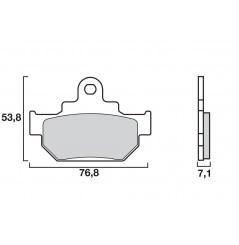 Plaquette de Frein Moto Avant CL Brakes 2387A3+