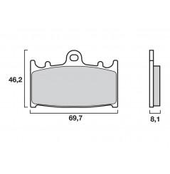 Plaquette de Frein Moto Avant CL Brakes 2251A3+