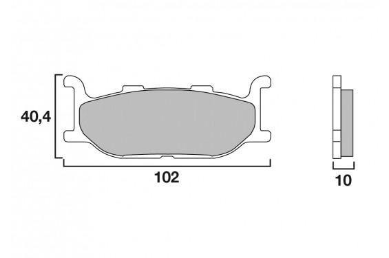Plaquette de Frein Moto Avant CL Brakes 2391A3+