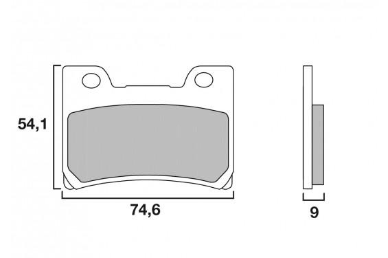 Plaquette de Frein Moto Avant CL Brakes 2309A3+