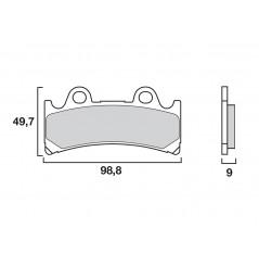 Plaquette de Frein Moto Avant CL Brakes 2254A3+