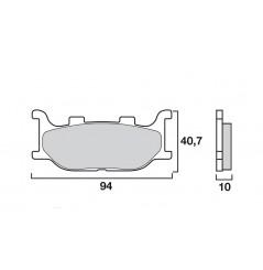 Plaquette de Frein Moto Avant CL Brakes 2546A3+