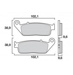 Plaquette de Frein Moto Avant CL Brakes 2313A3+