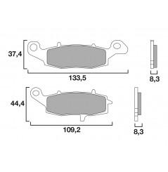 Plaquette de Frein Moto Avant CL Brakes 2383A3+