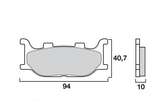 Plaquette de Frein Moto Avant CL Brakes 2546S4
