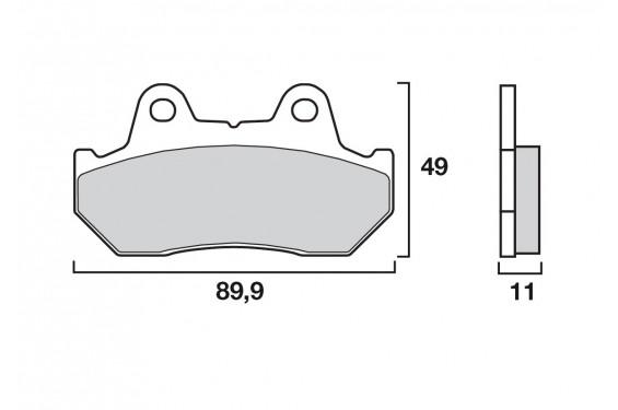 plaquette de frein moto arri re cl brakes 22589rx3 street moto piece. Black Bedroom Furniture Sets. Home Design Ideas