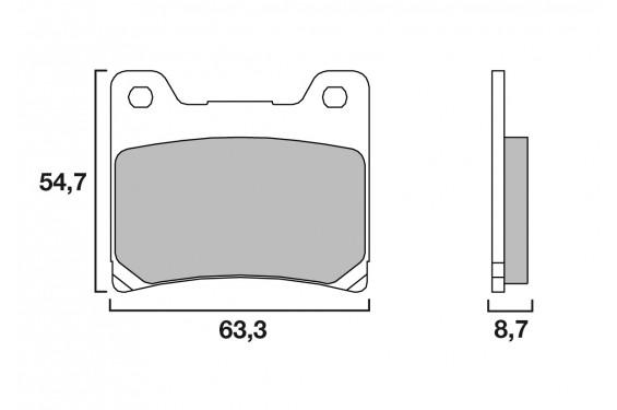 plaquette de frein moto arri re cl brakes 2283rx3 street moto piece street moto piece. Black Bedroom Furniture Sets. Home Design Ideas