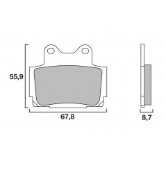 Plaquette de Frein Moto Arrière CL Brakes 2301RX3