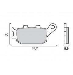 Plaquette de Frein Moto Arrière CL Brakes 2296RX3