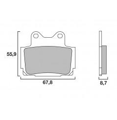 Plaquette de Frein Moto Arrière CL Brakes 2301S4
