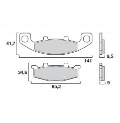 Plaquette de Frein Moto Arrière CL Brakes 2304S4