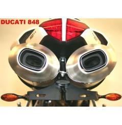 Support de plaque Moto R&G Ducati 848 (08-13) 1098 (07-11) et 1198 (09-12)