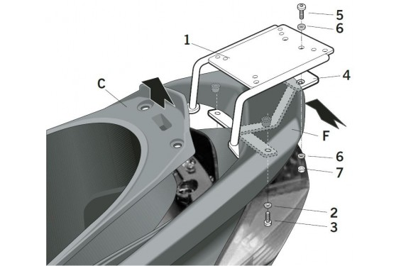 SUPPORT TOP CASE SHAD VERSYS 1000 12/13