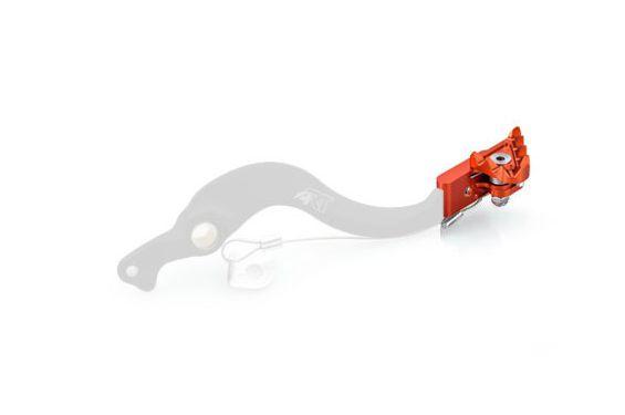 Embout Pliable et Interchangeable Orange de Pédale de Frein Moto