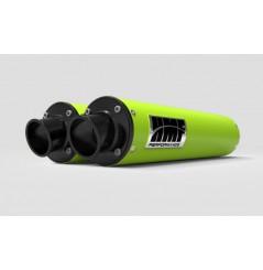 Double Silencieux HMF Vert Venom Pour Can Am Maverick 1000 Turbo (15-17)