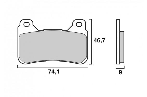 Plaquette de Frein Moto Avant CL Brakes 1134A3+