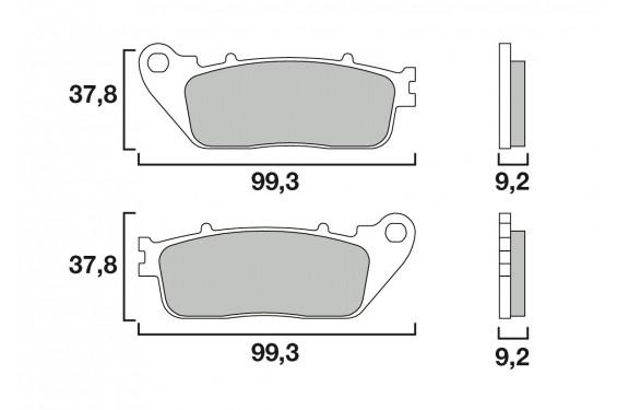 Plaquette de Frein Moto Arrière CL Brakes 12177RX3