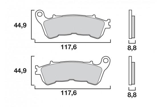 Plaquette de Frein Moto Avant CL Brakes 1159A3+