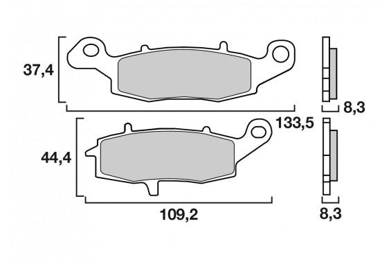Plaquette de Frein Moto Avant Droit CL Brakes 2384XBK5