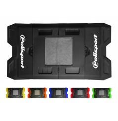 Tapis de Paddock Pliable avec Récupérateur POLISPORT pour Moto et Quad