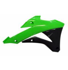 Ouies de Radiateur Vert et Noir RaceTech Moto pour Kawasaki KX85 (14-18)