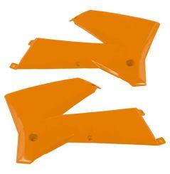 Ouies de Radiateur Orange RaceTech Moto pour KTM EXC125 (05-07) EXC200 (05-07) EXC250 (05-07) EXC300 (05-07)