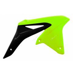 Ouies de Radiateur Jaune fluo/Noir RaceTech Moto pour Suzuki RM-Z250 (10-18)