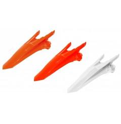 Garde Boue Arrière Blanc / Orange / Orange fluo RaceTech Moto pour KTM SX-F250 (16-18) SX-F350 (16-18) SX-F450 (16-18)