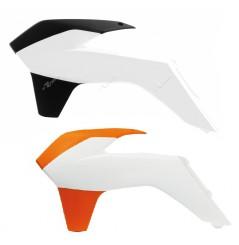 Ouies de Radiateur Orange / Blanc ou Blanc/Noir RaceTech Moto pour KTM EXC450 (15-16) EXC500 (15-16)