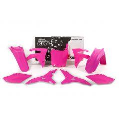 Kit Plastique RaceTech pour Moto Honda CRF250 R (14-17) CRF450 R (13-16) | Rose fluo