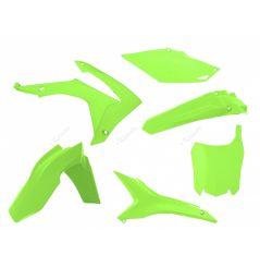Kit Plastique RaceTech pour Moto Honda CRF250 R (14-17) CRF450 R (13-16) | Jaune fluo