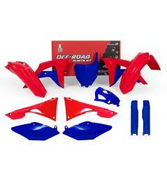 Kit Plastique RaceTech pour Moto Honda CRF250 R (18) CRF450 R (17-18) | Rouge Bleu