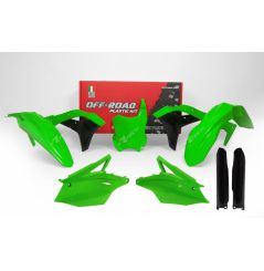 Kit Plastique RaceTech pour Moto Kawasaki KX250 F (17-18) | Vert fluo