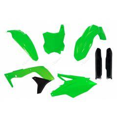 Kit Plastique RaceTech pour Moto Kawasaki KX450 F (16-18) | Vert fluo
