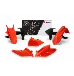 Kit Plastique RaceTech pour Moto KTM EXC-F250 (17-19) EXC-F350 (17-19) EXC-F450 (17-19) EXC-F500 (17-19) - Look 2018