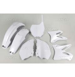 Kit Plastique UFO pour Moto Yamaha YZ125 (13-14) YZ250 (13-14) | Couleur Blanc