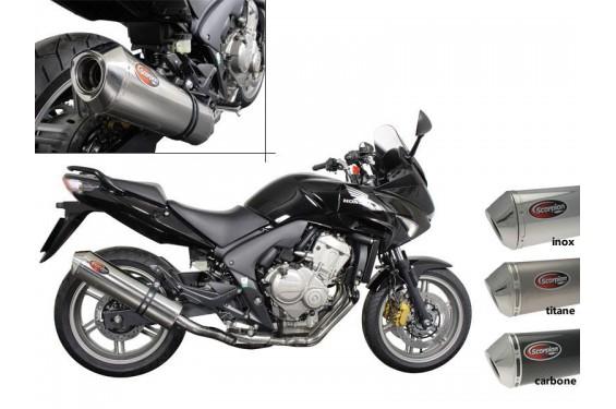 Silencieux Scorpion Factory rond inox Honda CBF 600 07/13