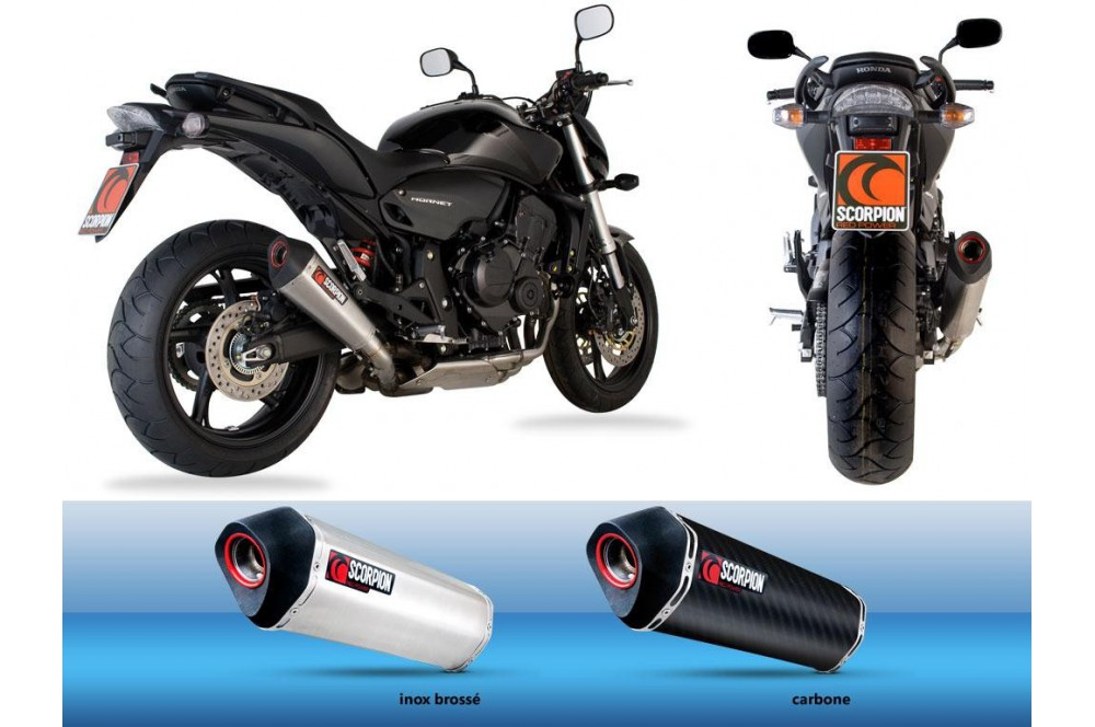 silencieux scorpion serket carbone hornet 600 07 13 street moto piece. Black Bedroom Furniture Sets. Home Design Ideas