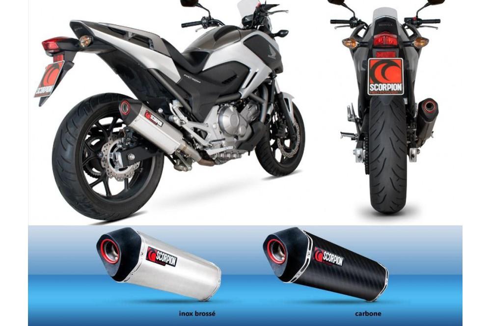 silencieux scorpion serket carbone honda nc700 12 13 street moto piece. Black Bedroom Furniture Sets. Home Design Ideas