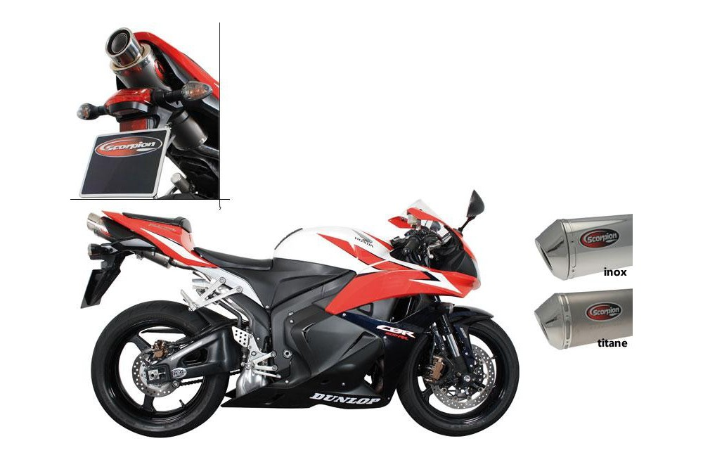 silencieux scorpion stealth inox honda cbr600rr 09 12 street moto piece. Black Bedroom Furniture Sets. Home Design Ideas