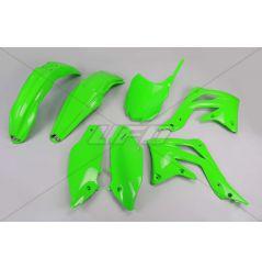 Kit Plastique UFO pour Moto Kawasaki KX450 F (13-15) - Couleur Vert