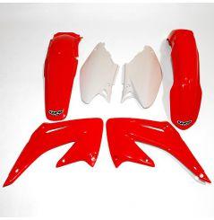 Kit Plastique UFO pour Moto Honda CR125 R (05-07) CR250 R (05-07) - Couleur Origine
