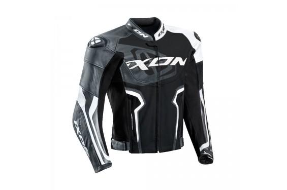 timeless design e1236 dc5e1 blouson-cuir-moto-ixon-falcon-jacket-noir-blanc-gris.jpg