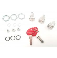 Kit 3 Cylindre Barillet + 2 clés ROUGE pour les Valises Shad SH23-SH35-SH36-SH43
