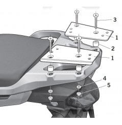 Support Top Case Shad pour 1200 Crosstourer (12-18)