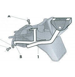 SUPPORT TOP CASE SHAD GSX 750 F (91-98)